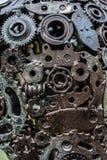 Ilustraciones del metal de la artesanía de recambios usados fotografía de archivo