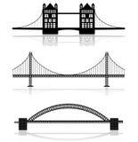 Ilustraciones del puente imagen de archivo