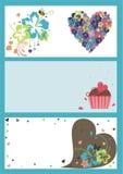 Ilustraciones del tema de la tarjeta del día de San Valentín Foto de archivo libre de regalías