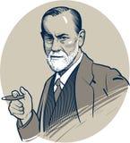 03 24 2018 Ilustraciones del vector del psicólogo famoso Sigmund Freud Uso editorial solamente EPS 10 Imagenes de archivo