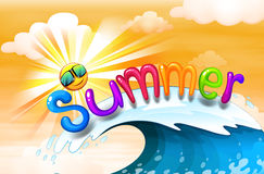 Ilustraciones del verano ilustración del vector