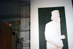 Ilustraciones en la 6ta Moscú Bienal del arte contemporáneo Fotos de archivo