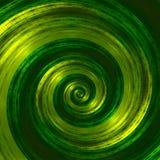 Ilustraciones espirales verdes abstractas creativas Ejemplo hermoso del fondo Imagen monocromática del fractal Diseño de los elem Imagenes de archivo