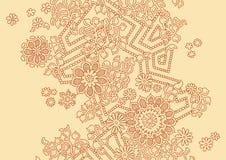 Ilustraciones florales con las flores Imágenes de archivo libres de regalías