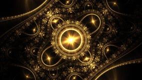 Ilustraciones generadas por ordenador del fractal para el diseño creativo stock de ilustración
