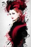 Ilustraciones hermosas de la mujer Imagen de archivo