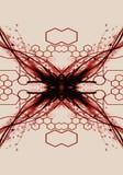 Ilustraciones X-marcadas sangrientas del extracto en un fondo conectado artístico libre illustration