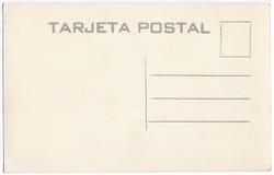 Ilustraciones mexicanas 1920s-1930s de la parte posterior de la postal del vintage Imagenes de archivo