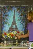 Ilustraciones originales del ejemplo del impresionismo del arte de la lona del oin de la pintura al ?leo desing imagen de archivo libre de regalías