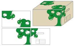 Ilustraciones para el envase Fotografía de archivo