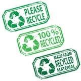 Ilustraciones recicladas del sello de goma Foto de archivo