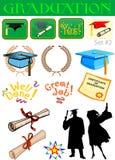 Ilustraciones relacionadas de la graduación Fotografía de archivo