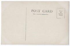 Ilustraciones 1900s-1910 de la parte posterior de la postal del vintage Imagen de archivo libre de regalías