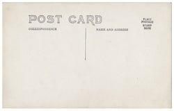 Ilustraciones 1900s-1910 de la parte posterior de la postal del vintage Imagenes de archivo