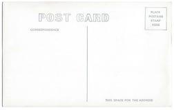 Ilustraciones 1940s-1950s de la parte posterior de la postal del vintage Imágenes de archivo libres de regalías
