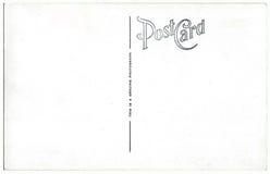 Ilustraciones 1940s-1950s de la parte posterior de la postal del vintage Foto de archivo