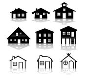 Ilustraciones simples del vector de la casa Foto de archivo