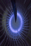 Ilustraciones simuladas de la galaxia espiral Stock de ilustración