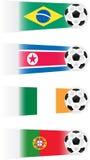 ilustracj piłki nożnej drużyny Obrazy Royalty Free