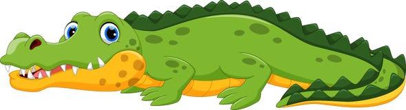 Ilustracja śliczna krokodyl kreskówka ilustracja wektor