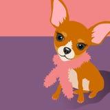 Ilustracja śliczny chihuahua psa obsiadanie ilustracja wektor