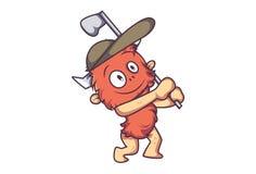 Ilustracja Śliczny kreskówki futerka potwór ilustracji