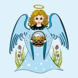 Ilustracja śliczny mały anioł Zdjęcia Stock