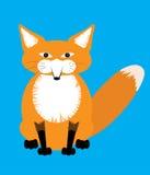 Ilustracja śliczny siedzący czerwony Fox Obrazy Royalty Free