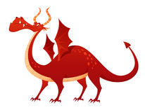 Ilustracja śmieszny czerwony smok royalty ilustracja