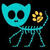 Ilustracja kota kościec Obrazy Royalty Free