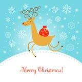 ilustracja świątecznej wesoło Zdjęcie Stock