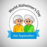 Ilustracja Światowy Alzheimer ` s dnia tło Zdjęcia Royalty Free