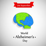 Ilustracja Światowy Alzheimer ` s dnia tło Zdjęcie Royalty Free