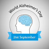 Ilustracja Światowy Alzheimer ` s dnia tło Fotografia Stock
