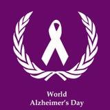 Ilustracja Światowy Alzheimer ` s dnia tło Fotografia Royalty Free