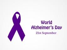 Ilustracja Światowy Alzheimers dnia tło Obrazy Stock