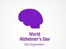 Ilustracja Światowy Alzheimers dnia tło Obraz Royalty Free