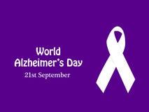 Ilustracja Światowy Alzheimers dnia tło Zdjęcie Royalty Free