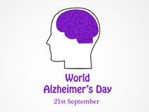 Ilustracja Światowy Alzheimers dnia tło Zdjęcia Stock