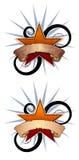 ilustracja 2 swirly gwiazd Zdjęcie Royalty Free