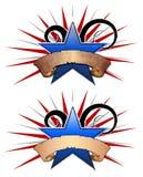 ilustracja 3 swirly gwiazd Obraz Stock