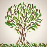 Ilustracja abstrakcjonistyczny drzewo ilustracja wektor