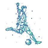 Ilustracja abstrakcjonistyczny gracz futbolu Obrazy Stock