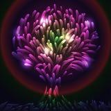 Ilustracja abstrakcjonistyczny magiczny drzewo. Eps10 ilustracji