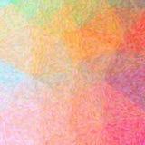 Ilustracja abstrakcjonistyczny pomarańcze, koloru żółtego I purpur impresjonista Pointlilism, Obciosuje tło royalty ilustracja