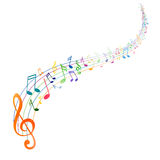 Kolorowy Musicnotes Obrazy Stock
