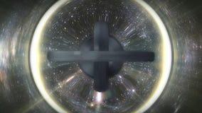 Ilustracja abstrakcjonistyczny wykoślawienie kosmos Abstrakcjonistyczny ruch postać w przestrzeni która zniekształca je zdjęcie royalty free