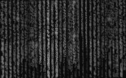ilustracja abstrakcyjna Wektor leje się binarnego kodu tło royalty ilustracja