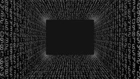ilustracja abstrakcyjna Wektor leje się binarnego kodu tło obraz royalty free