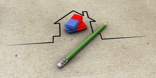 Ilustracja agent nieruchomości z ołówkiem ilustracji